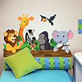 wall art r00145 Pegatinas de Pared para niños schwatzhafte Animales, Wallpaper, 100 x 30 x cm
