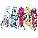 5Pcs Mask Necklace Holder Eyeglass Chains for Women Eyeglass Holder Strap Adjustable Mask Lanyard Silk scarf