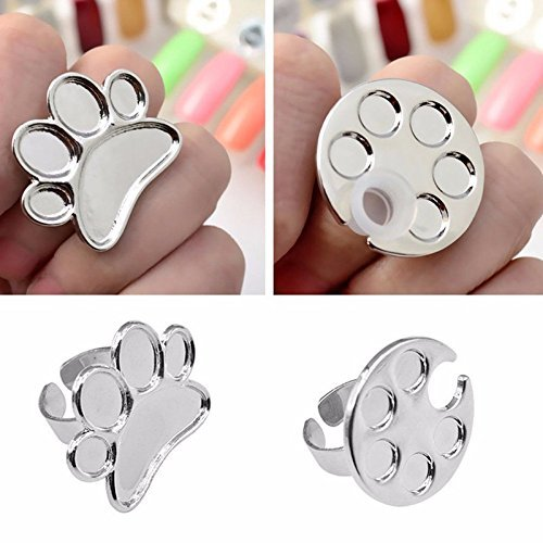 AKOAK 2 Pcs/Lot Mini Manicure Palette Wearable Metal Nail...