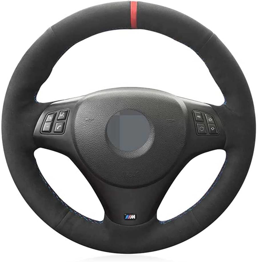 Cash special price SAXTZDS Omaha Mall Leather Suede Hand-Stitched Car Steering Fi Cover Wheel