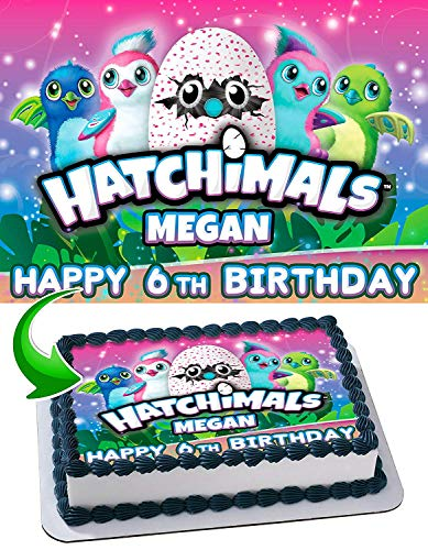 Hatchimals Edible Image Cake Topper Party Personalized 1/4 Sheet