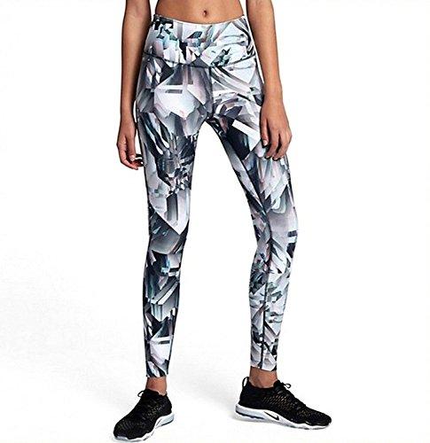 Nike Womens Legend Fitness Running Athletic Leggings Gray XS