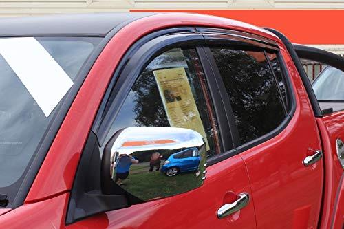 Autoclover Windabweiser-Set – für Doppelkabine (insgesamt 4 Stück) (getönt)