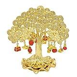 Greebajiao Statua Golden Fortune Ricchezza Monete Money Tree W4376