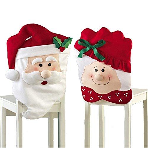 Aiklin Weihnachts Stuhlhussen Set Nikolaus Deko 1 Paar