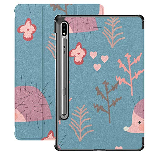 Hedgehog Barbed Cute Animal Cover For Samsung Galaxy S7 For Samsung Galaxy Tab S7/s7 Plus Case Samsung Galaxy S7 Stand Back Cover Samsung Galaxy Tab A Covers For Galaxy Tab S7 11 Inch S7 Plus 12.4 In