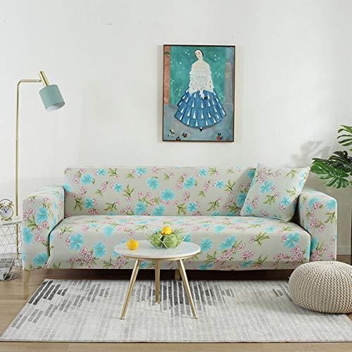 KTUCN Funda de sofá elástica, Cubierta de sofá de Sala de Estar, Funda de sofá elástica Protector de Muebles 1/2/3/4/5 plazas, Modelo 4, 1 Seat (90-140cm)