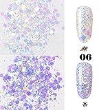 ICYCHEER Mix Form Glitzer Nägel Dekorative Nailart Glitzer Pailletten Pulver Glänzende Nägel Dekoration Decals Sparkling Sticker