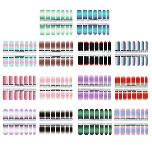 Beaupretty 14 Vellen Nagellak Stickers Mooie Nail Art Patch Gelei Gradiënt Nagel Sticker Voor Diy Ontwerp Nagel Decoratie (Gemengde Kleur)