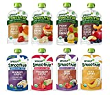 Sprout Organic Baby Food Toddler Pouches Stage 4, Variety Sampler, 8 Flavors, 4 Ounce Pouches (Pack...