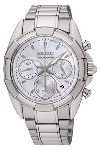 Seiko Orologio Cronografo Quarzo da Donna con Cinturino in Acciaio Inox SRW807P1