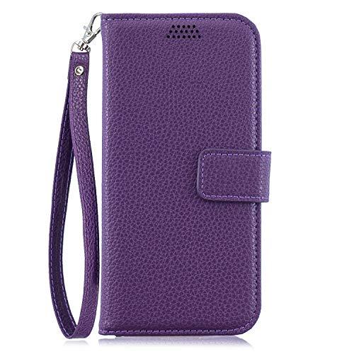 Sony Xperia L2 Hülle, SONWO PU Lederhülle Flip Brieftasche Hülle Handyhülle mit Cash Card Slots, Ständer Funktion und Magnetverschluss für Sony Xperia L2, Lila