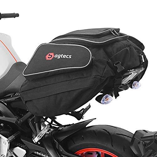 Bagtecs - Motorrad Hecktasche Ducati Scrambler Gepäck-Tasche Motoroller Motorradgepäck für sozius hinten schwarz