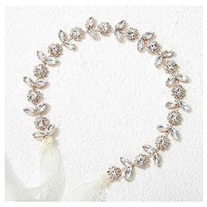 SWEETV Diadema de niña de flores para boda, pieza de pelo de respiración del bebé, diadema floral de cristal para fiesta… | DeHippies.com