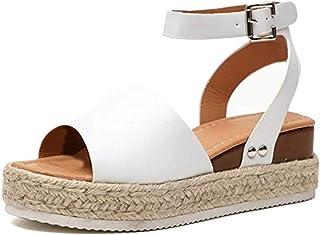 09f041e2664a70 Sandales Plateforme Talon Femmes 5.5 CM Compensé Chaussures de Été  Chaussons Plage Piscine Ville Casual Noir