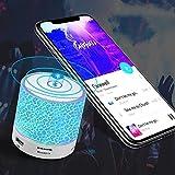 Altavoz Bluetooth portátil, LED colorido inalámbrico Bluetooth altavoz luz nocturna lámpara de mesa con radio FM, 7 colores cambiantes linterna de camping portátil, regalo para niñas y hombres