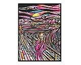 Colorvelvet - Quadro 35 x 47 in velluto da colorare - L'Urlo - LA9 -
