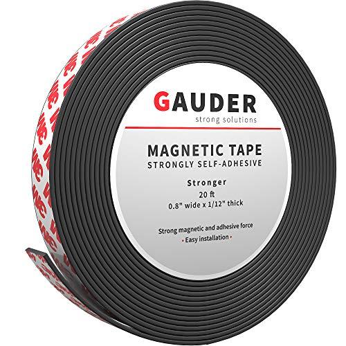 GAUDER Cinta Magnética Autoadhesiva Fuerte | Tiras Magnéticas con Respaldo Adhesivo | Cinta Magnética