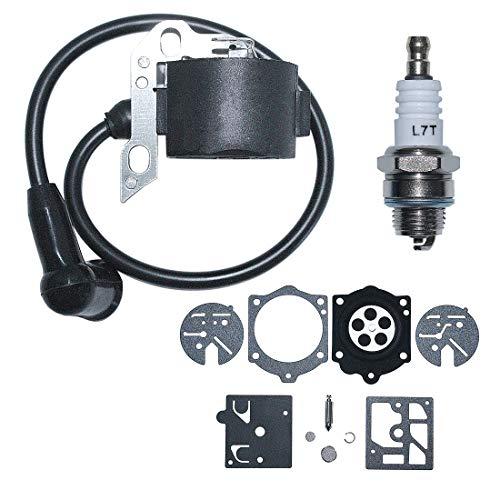 AUMEL Ignition Coil Spark Plug Repair Rebuild Kit for Stihl 015 015AV 015L Chainsaw 1114 404 3200