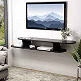Tribesigns 2 Tier Modern Wall Mounted Media Console Floating...