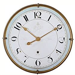 Uttermost Torriana Wall Clock in Antique Gold Frame
