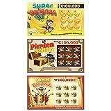 Rubbellos Scherzartikel - Fake Lotto Gewinn - Jedes Los beinhaltet einen Jackpot - Der ultimative...