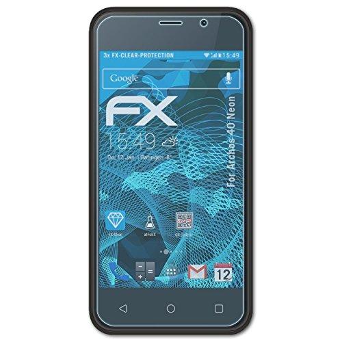 atFolix Schutzfolie kompatibel mit Archos 40 Neon Folie, ultraklare FX Bildschirmschutzfolie (3X)