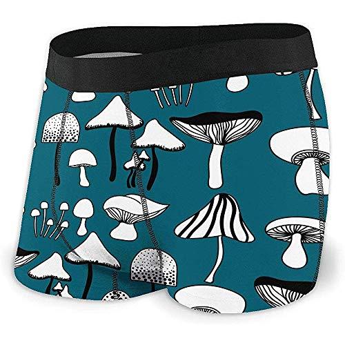 Web--ster Men 'S Boxer Brief Mushrooms Typen Pflanzenschutz Brief/Shorts/Unterwäsche Lightweight Size XL