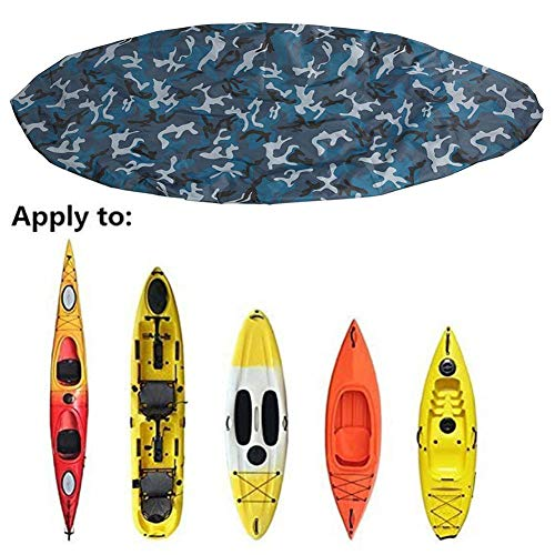 Feileng Waterproof Kayak Canoe Cover, Outdoor Breathable Dust Storage Cover, Universal Anti-UV Sunblock Shield for Paddle Board Kayaks Canoe