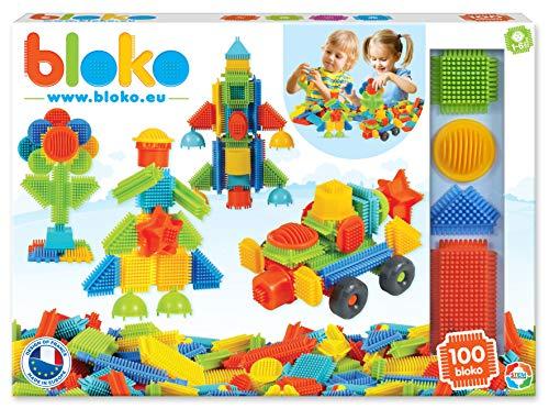 les clients d'abord bon marché charme de coût BLOKO – 503510 – Coffret de 100 'BLOKO' – Dès 12 mois – Fabriqué en EUROPE  – Jouet de construction