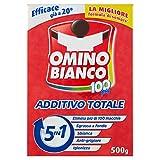 Omino Bianco - Additivo Lavatrice Totale 5 Azioni in 1 in Polvere per Bucato, Smacchiante ...