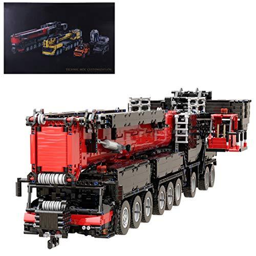 Leic Technic Liebherr LTM 1750-9.1 Modelo de grúa 7068Pcs 1:20 2.4G RC Modelo de vehículo de construcción de grúa Todo Terreno con 12 Motores Compatible con Lego