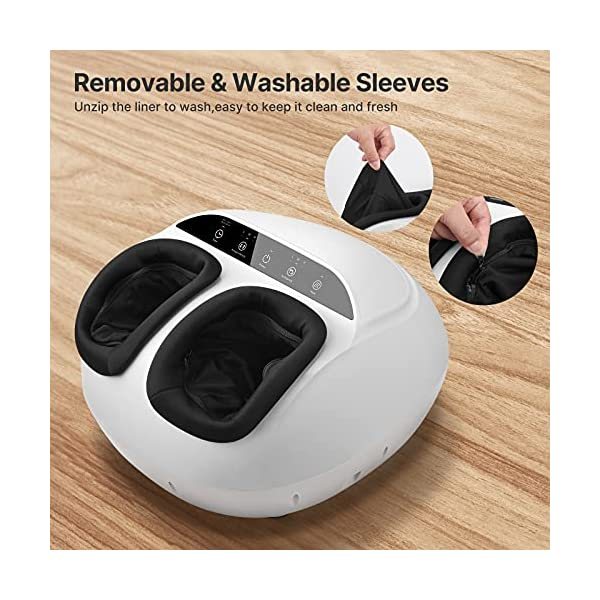 RENPHO Foot Massager Machine with Heat,Shiatsu Deep Kneading, Multi-Level Settings, Delivers Relief for Tired Muscles…