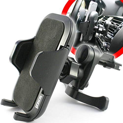 scozzi Handyhalterung Auto Lüftung Lüftungsschlitz Handy KFZ Halterung Halter universal (kompatibel mit Samsung & iPhone) S20 S10 S9 S8 S7 A71 A70 A51 A50 A40 A30s M40 11 X XS XR 8 Plus Ultra Max Pro