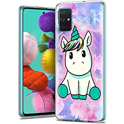 ZhuoFan Funda Samsung Galaxy A71 4G, Cárcasa Silicona Transparente con Dibujos Diseño Suave TPU Antigolpes de Protector Piel Case Cover Fundas para Movil Samsung Galaxy A71 4G, Pretty Unicornio