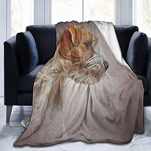 XZHYMJ Fleece Blanket Dog Jack Russell Terrier Ultra Soft Microfiber Duvet 102X127cm (50X40 Inches)
