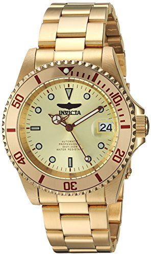 Men's Connection Automatic-self-Wind Watch with Stainless-Steel Strap, Gold, 0.75 (Model: ) - Invicta 24762