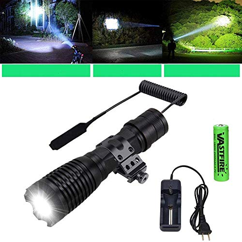 VASTFIRE Zoomable AR Flashlight with Mount AR15 Light with Pressure Switch