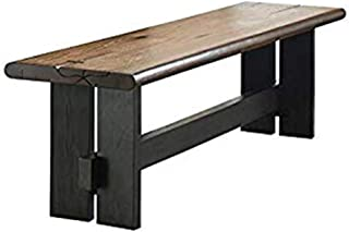 Marquette Live Edge Dining Bench with Trestle Base Natural Honey and Charcoal