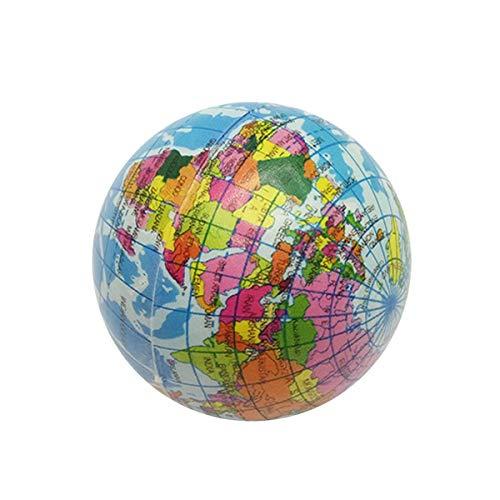 iFCOW Mini globo mapa del mundo de la Tierra estrés animoso PU Shell bola de espuma Atlas Geography Kid regalo bebé regalo
