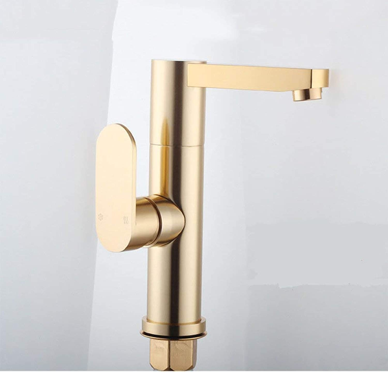 GONGFF Waschtischarmaturen Wasserhahn neuen Raum Aluminium Wasserhahn Europischen Waschbecken Wasserhahn Gold Waschbecken Badezimmerschrank Wasserhahn