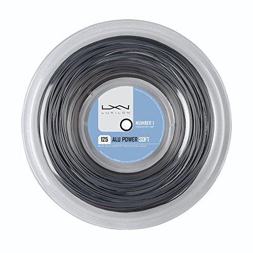 Luxilon Unisex Tennissaite Alu Power Soft, silber, 12,2 Meter, 1,25 mm, WRZ990101