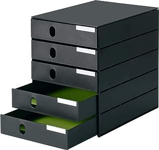 Ablagesysteme 2 Stück styroval 5 Schub black /& white Ablageboxen geschl