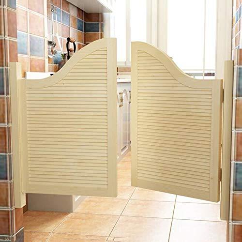 CHAXIA Puertas Batientes De Cafe, Madera Maciza Puerta De Vaquero Cafetería Bar Puerta De La Cerca Bisagra De Metal Resorte Automático, 2 Colores Varios Tamaños Personalizable