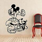 wZUN Pegatinas de Pared Personajes de Dibujos Animados Calcomanías de Vinilo Familia Niños Habitación Decoración Infantil Calcomanías 75x57cm