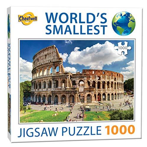 Cheatwell Games- Colosseum Jigsaw World'S Smallest - Puzzle de 1000 Piezas, diseño de Coliseo, Color (13138)