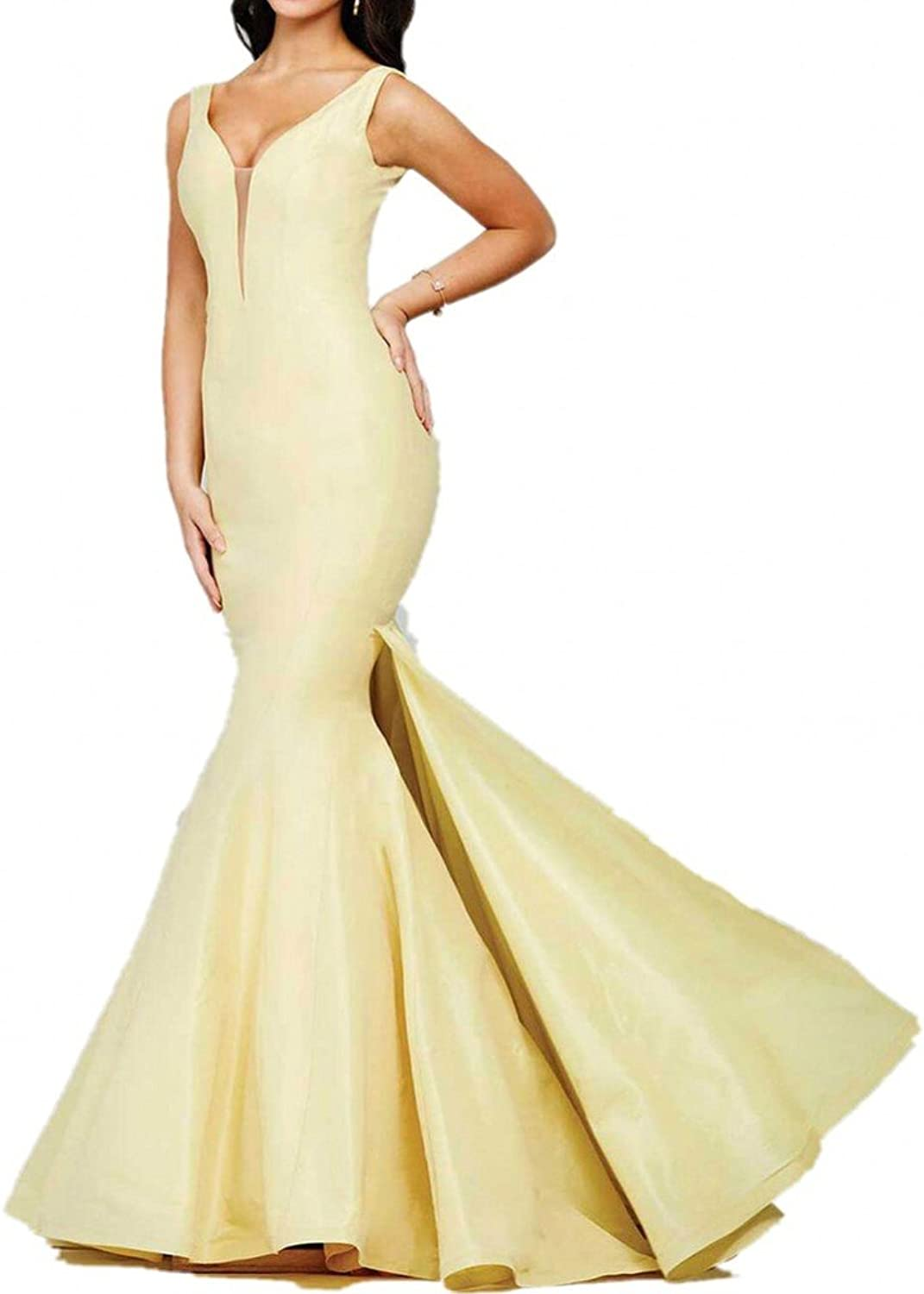 La Mariee Sexy Mermaid DeepV Formal Evening Prom Dresses For Party Plus Size
