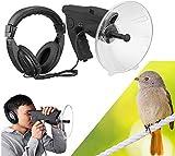 XIAOWANG Monocular parabólico Antena direccional micrófono, micrófono parabólico, Tiempos X8 monocular de Larga Distancia audífono, hasta 300 pies de Aumento Amplificador de Sonido monocular,
