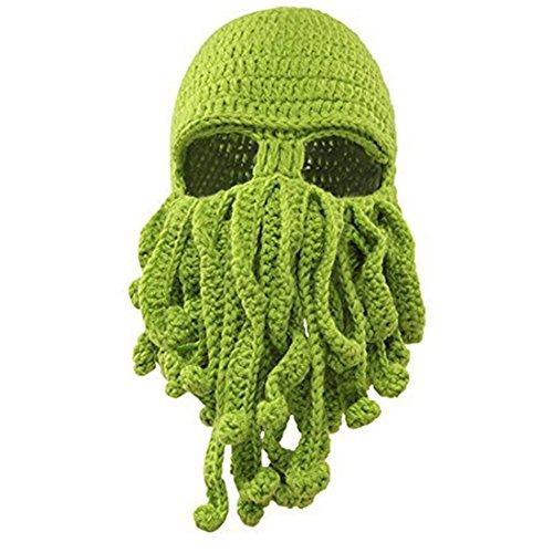 Octopus Cthulhu Strickmütze Bart Beanie winddicht Ski Mütze Halloween Party Maske