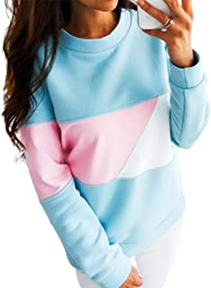Autumn Winter Sweater Color Matching Coat Round Collar Jacket Long Sleeve Sweater Jacket Women Men Coats - Pink S
